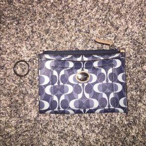 COACH wallet/coin purse, blue. Great condition!